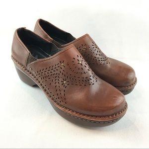 Umberto Raffini 40 US 9-9.5 Brown Studded Clogs